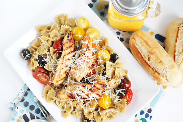 How to Make a Wonderful Summery Pasta Salad with Chicken