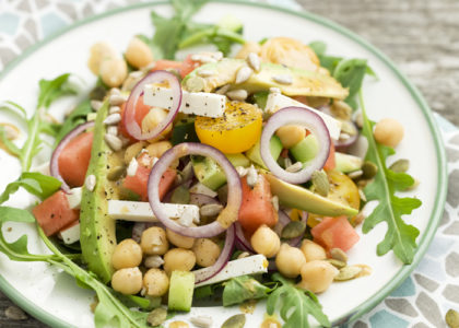 A Delicious Avocado Salad with Chickpeas Recipe