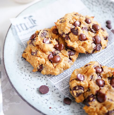 Healthy & Vegan Chocolate Chip Cookies Recipe