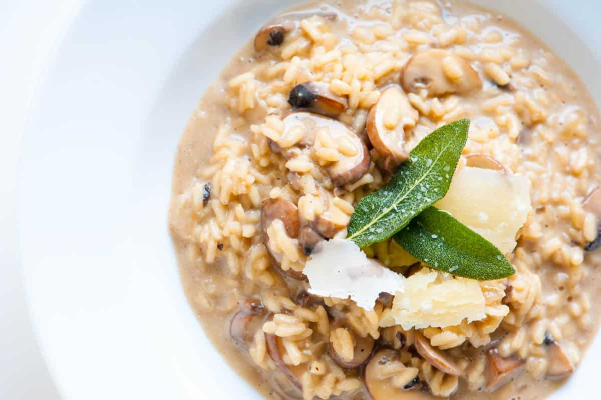 Risotto with Mushrooms Recipe Vegetarian