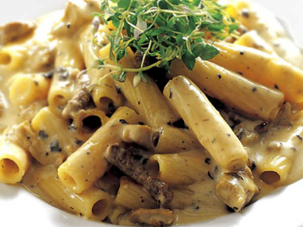 Penne Pasta with Beef Fillet and Cream Recipe