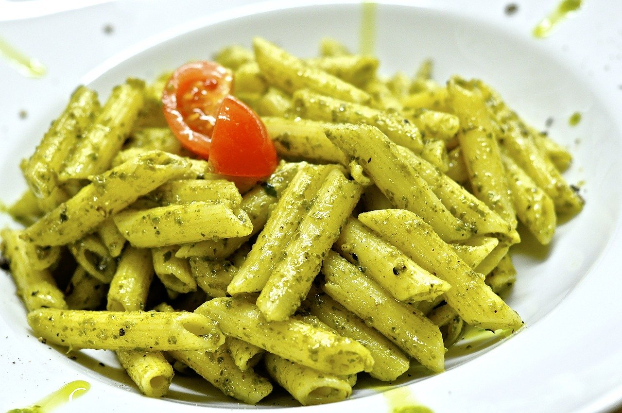 Pasta with Pesto and Grilled Vegetables Vegetarian Recipe