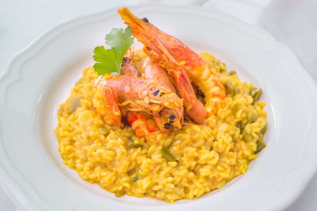 Tomato Risotto with Shrimp Recipe (gluten free)
